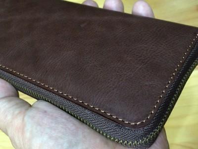 ラウンドファスナーの長財布を作って見た(その1)