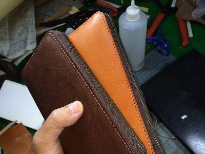 ラウンドファスナーの長財布を作って見た(その2)